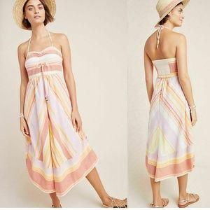 Anthropologie Savannah Halter Dress